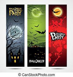 Happy Halloween banners design