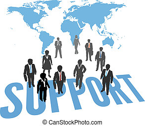 World Support Service Business People - Business People...