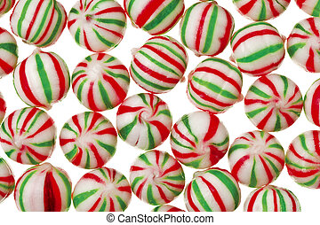 peppermint candy - A delicious red and green peppermint...