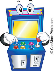 Arcade Game Mascot - Mascot Illustration of an Arcade Game...