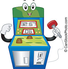 Whack-a-Mole Mascot - Mascot Illustration of a Whack-a-Mole...