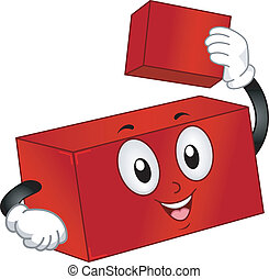Building Block Mascot - Mascot Illustration of a Building...