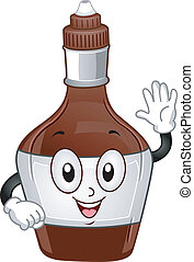Chocolate Syrup Mascot - Mascot Illustration of a Chocolate...