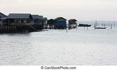 wooden houses in Penyengat island