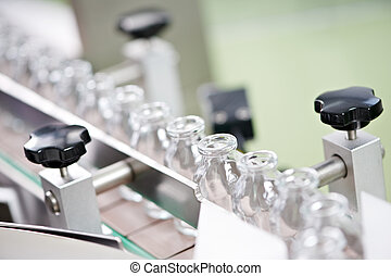 pharmacy medicine glassware at washing - pharmaceutical...