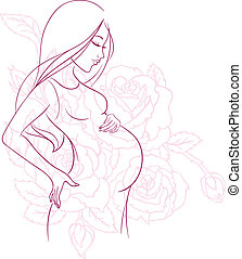 Pregnant woman - Vector illustration of Pregnant woman