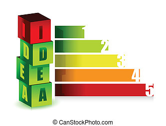 idea color graph illustration