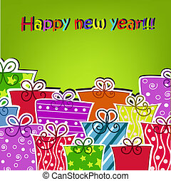Colorful gifts for the new year