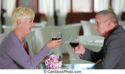 Happily married - Lovely seniors spending a romantic evening...