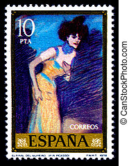 stamp mail Picasso