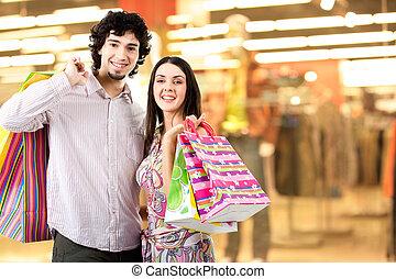shoppen, zentrieren