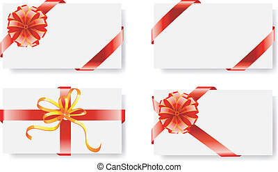 bows with ribbons - Vector illustration of bows with ribbons
