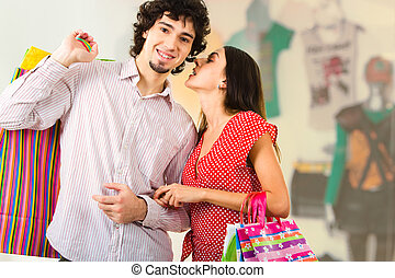 Couple in the mall