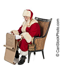 a reading santa clause - Santa clause reading Christmas wish...