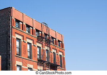 Tenement architecture, Chinatown, Chicago, USA