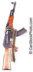 AK-47 and bandoleer - A Russian AK-47 and a bandoleer of...