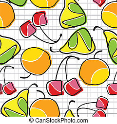 colorful fruit - seamless pattern