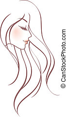 Beauty woman - Vector illustration of Beauty woman