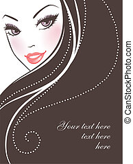 Beauty woman pic - Vector illustration of Beauty woman pic