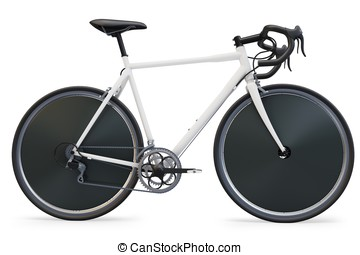 3d sport race bike detailed on white background