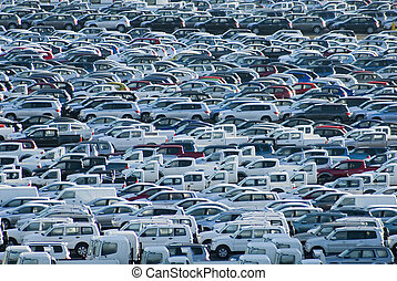 carpark - 1000s of new cars waiting for their owners