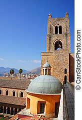 View from the roof of the Monreale Cathedral in Sicily