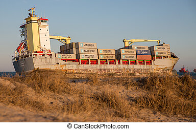 Merchant Ship - VALENCIA - OCTOBER 1: Celia St Johns cargo...