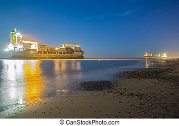 Merchant Ship - VALENCIA - OCTOBER 1: Celia St Johns and...