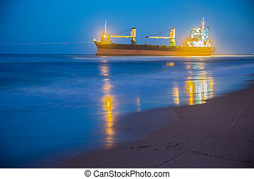 Merchant Ship - VALENCIA - OCTOBER 1: BSLE Sunrise cargo...