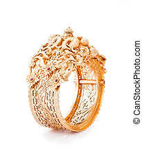 Pure Gold bracelet having itself craft of gold looking...
