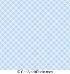 Light blue Gingham Fabric Background - A light blue gingham...