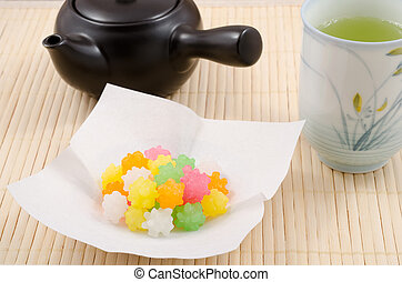 Japanese sugar candy - Colorful japanese sweet sugar candy...