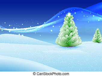 christmas eve - vector christmas illustration with place for...