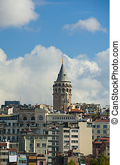 View of Galata Tower in Istanbul