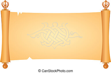 Parchment symbol of the Sikhs - Parchment is a symbol of the...