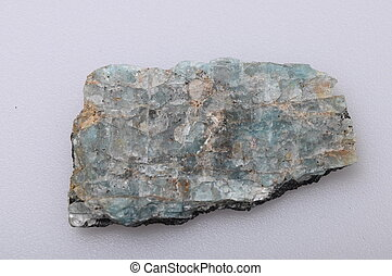 Green amazonite stone - Green and blue amazonite mineral on...