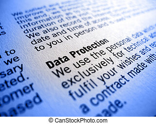 data protection - focus on the phrase data protection in an...