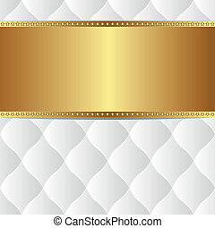 white gold background with copy space