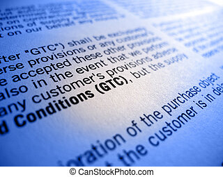 GTC in focus - GTC general terms and conditions in focus of...