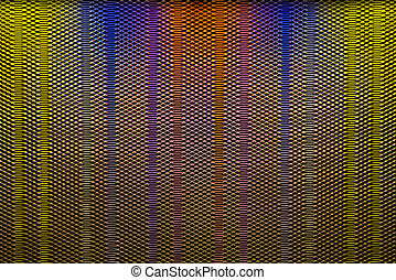 Abstract - Close up view on a 60s jukebox speaker