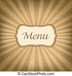 Retro Label With Menu