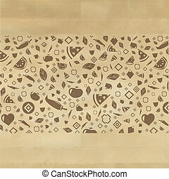 Vintage Restaurant Background With Icons, Vector...