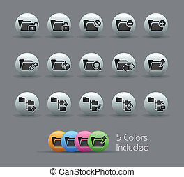 Folder Icons - 1 of 2 Pearly Ser - The eps file includes 5...