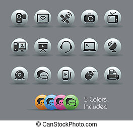 Communication Icons Pearly Serie - The eps file includes 5...