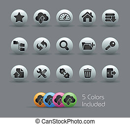 FTP and Hosting Icons Pearly Serie - The eps file includes 5...