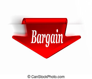 Bargain Red - Red glass top arrow page tab. Part of a...