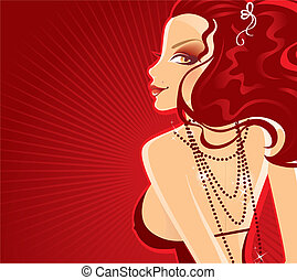 Party girl - Vector illustration of Party girl