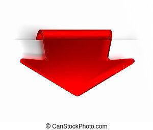 rojo, flecha