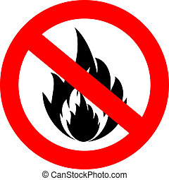 No fire vector sign isolated on white
