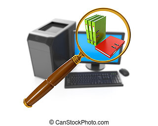 3d illustration of computer technology. Search for a...